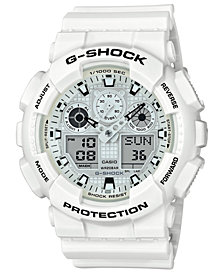 G-Shock Men's Analog-Digital White Resin Strap Watch 51.2mm