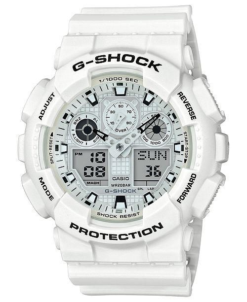 G Shock Men S Analog Digital White Resin Strap Watch 51 2mm
