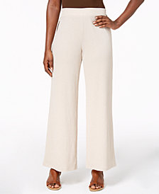 JM Collection Textured Straight-Leg Pants, Created for Macy's