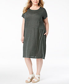 Eileen Fisher Plus Size Organic Linen Dress