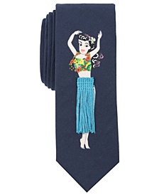 Original Penguin Men's Hula Hula Conversational Skinny Tie