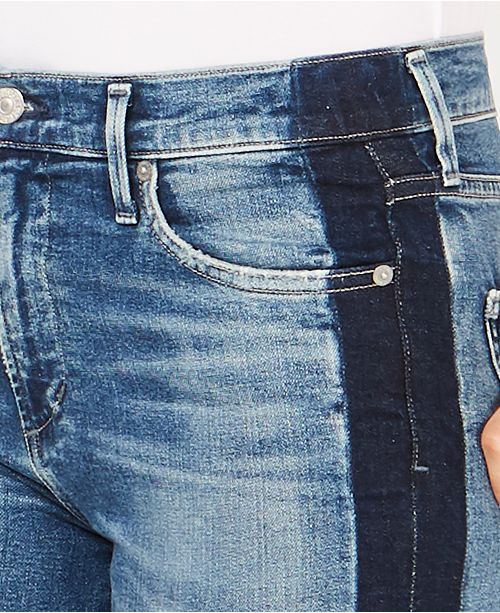 of Colorblocked Illusion Jeans Cropped Rocket Citizens Skinny Humanity atUnd