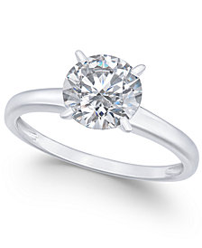 Arabella 14k White Gold Ring, Swarovski Zirconia Solitaire Engagement Ring (3-1/3 ct. t.w.)