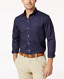 Long-Sleeve  Dot-Print Stretch Shirt, Created for Macy's