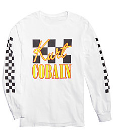 FEA Men's Kurt Cobain Long Sleeve Graphic-Print t-shirt