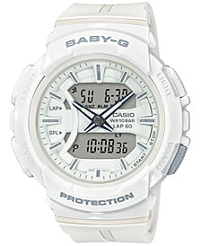 Baby-G Women's Analog-Digital White Resin Strap Watch 42.6mm