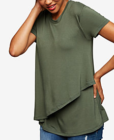 A Pea In The Pod French Terry Tiered Nursing Top