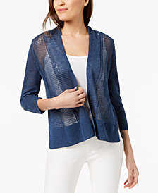 Alfani Novelty Stitch Cardigan, Created for Macy's