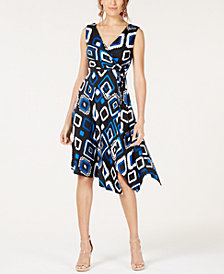 I.N.C. Petite Sleeveless Surplice Wrap Dress, Created for Macy's