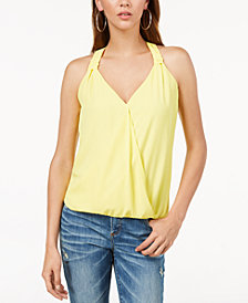 I.N.C. Surplice Blouson Tank Top, Created for Macy's