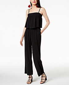 I.N.C. Blouson Jumpsuit, Created for Macy's