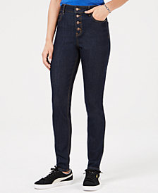 Black Daisy Juniors' Selina High Rise Skinny Jeans