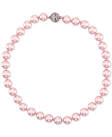 "Nina Gold-Tone Swarovski  Ball & Colored  Pearl 17"" Magnetic Collar Necklace, Created for Macy's"