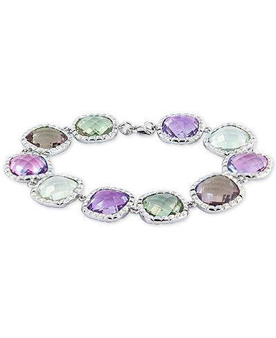 Multi-Gemstone Bracelet (60 ct. t.w.) in Sterling Silver