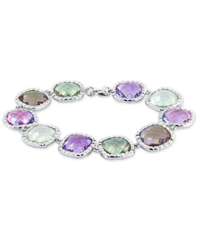 Macy's Multi-Gemstone Bracelet (60 ct. t.w.) in Sterling Silver