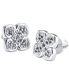 Le Fleur Sterling Silver Earring with White Topaz