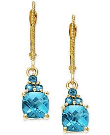 Blue Topaz Earrings (2-2/3 ct. t.w.) in 14k Gold