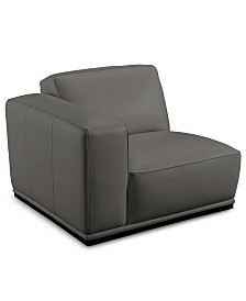 "CLOSEOUT! Zeraga 40"" Leather Modular Chair, Created For Macy's"