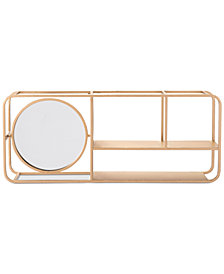 Zuo Gold-Tone Shelf with Mirror