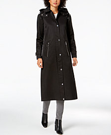 Calvin Klein Hooded A-Line Raincoat