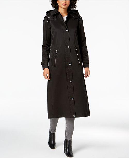 9795859a43e Calvin Klein Hooded A-Line Raincoat   Reviews - Coats - Women - Macy s