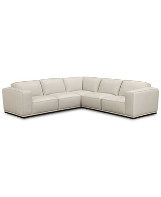 Furniture Zeraga 5 Pc Leather Modular Sectional Created For Macy S