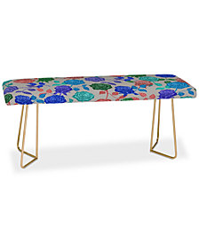 Deny Designs Bianca Green Roses Blue Bench