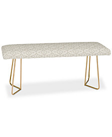 Deny Designs Little Arrow Design Co Modern Moroccan in Beige Bench