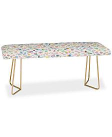 Deny Designs Ninola Design Multicolored Pastel Bubbles Dream Bench