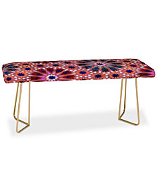 Deny Designs Schatzi Brown Tangier Tile Red Bench