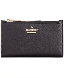 kate spade new york Blake Street Dot Mikey Pebble Leather Wallet