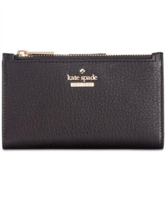 kate spade new york blake street dot mikey pebble leather wallet rh macys com