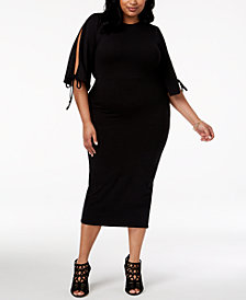 Rebdolls Plus Size Bodycon Midi Dress from The Workshop at Macy's