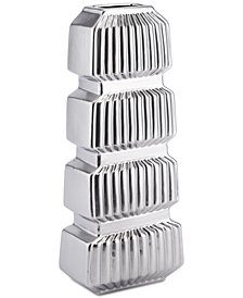Zuo Tower Matte Silver-Tone Small Vase