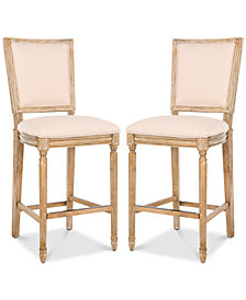 Evina Beige Bar Stool (Set of 2), Quick Ship