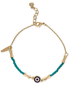 RACHEL Rachel Roy Gold-Tone Beaded Flex Bracelet
