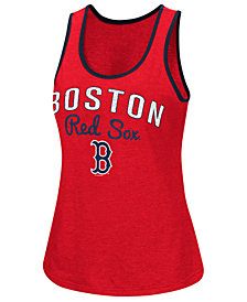 G-III Sports Women's Boston Red Sox Power Punch Glitter Tank