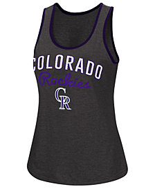 G-III Sports Women's Colorado Rockies Power Punch Glitter Tank