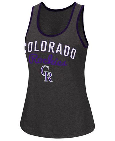 G-III Sports Women's Colorado Rockies Power Punch Glitter Tank