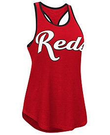 G-III Sports Women's Cincinnati Reds Oversize Logo Tank