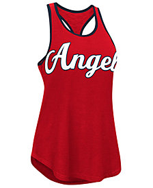 G-III Sports Women's Los Angeles Angels Oversize Logo Tank