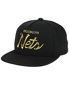 Mitchell & Ness Brooklyn Nets Metallic Tempered Snapback Cap