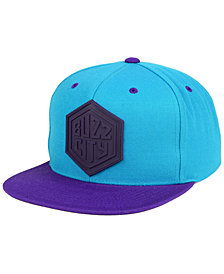Mitchell & Ness Charlotte Hornets Rubber Weld Snapback Cap