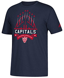 adidas Men's Washington Capitals Stadium Series Helmet Stripe T-Shirt