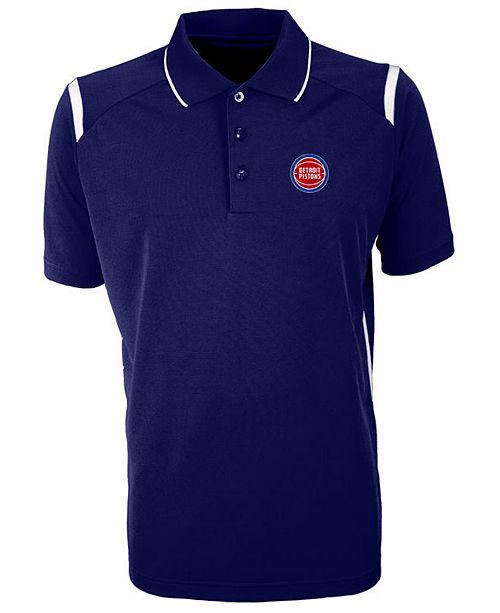 Antigua Men's Detroit Pistons Merit Polo Shirt