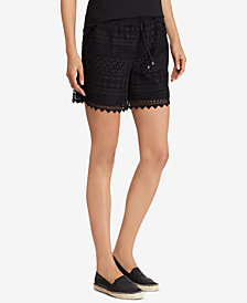 Lauren Ralph Lauren Scalloped Lace Shorts