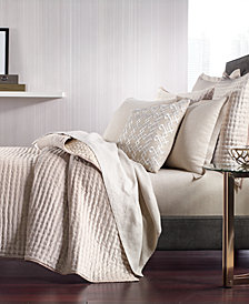 Hotel Collection Velvet Quilted Full/Queen Coverlet, Created for Macy's