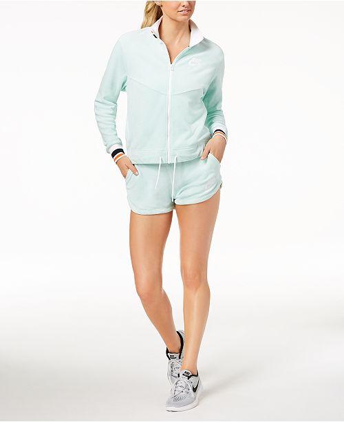 83960d173 Nike Sportswear French Terry Jacket & Shorts & Reviews - Women's ...