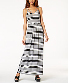 Emerald Sundae Juniors' Striped Maxi Dress