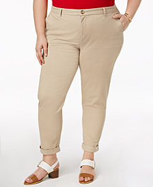 Tommy Hilfiger Plus Size Hampton Chino Pants, Created for Macy's
